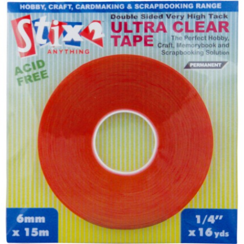 Stix 2 1/4High Tack Ultra Clear Tape