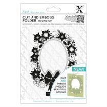 X-cut 110 x 150mm Cut & Emboss Folder - Wreath Aperture