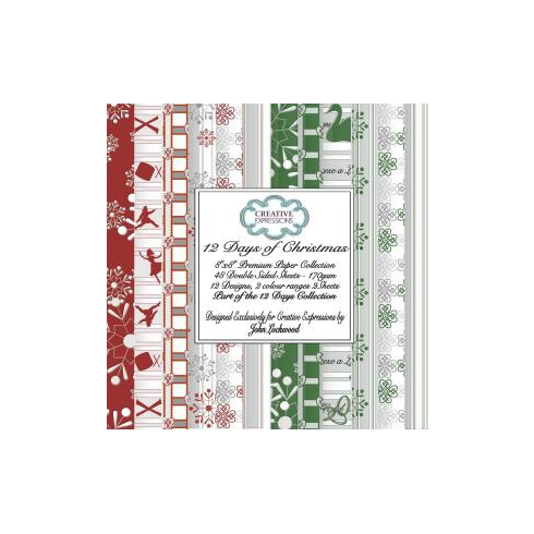 Creative Expressions 12 Days of Christmas Premium Paper Collection 8 x 8 by John Lockwood