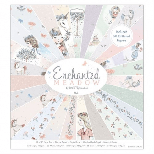 "Papermania 12 x 12"" Paper Pad (50pk) - Enchanted Meadow"