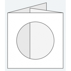 Craft Creations 144x144mm DF Circle Aperture - Smooth White
