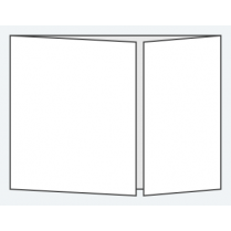 Craft Creations 198x145mm Off Centre Gatefold - Value Smooth White