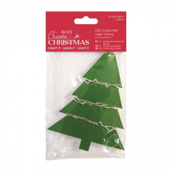 Create Christmas 20 Led Light String - Multi Coloured