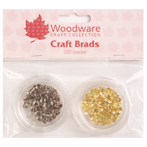 Woodware 200 Mini Round Brads