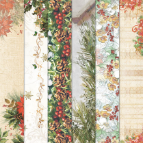 Craft Creations 24 Sheet Creative Paper Pack - Christmas Backgrounds
