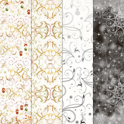 Craft Creations 24 Sheet Creative Paper Pack - Christmas Flourishes
