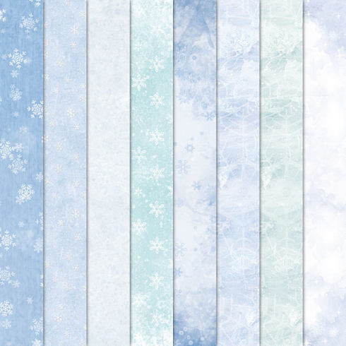 Craft Creations 24 Sheet Creative Paper Pack - Frost and Snow