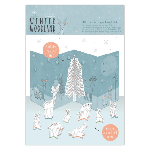 Papermania 3D DECOUPAGE CARD KIT - WINTER WOODLAND
