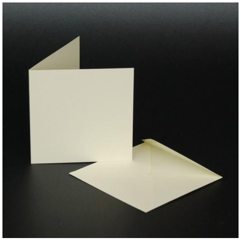 Craft UK 3x3 Cards & Envelopes - Ivory