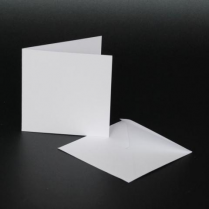 Craft UK 3x3 Cards & Envelopes - White