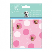 "Papermania 4 x 4"" Cards & Envelopes - Paws for Thought"
