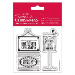 "Create Christmas 4 x 4"" Clear Stamps - Christmas Signs"