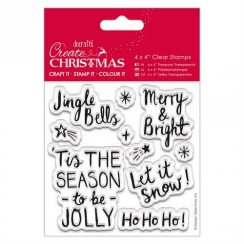 "Create Christmas 4 x 4"" Clear Stamps - Contemporary Sentiments"