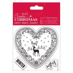 "Create Christmas 4 x 4"" Clear Stamps - Filgree"