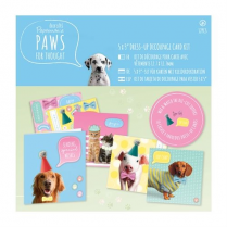 "Papermania 5 x 5"" Dress Up Card Kit - Paws for Thought"