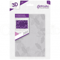 "Gemini 5 x 7"" 3D Embossing Folder - Decorative Holly"