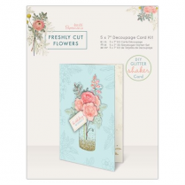 "Docrafts 5 x 7"" Decoupage Card Kit - Freshly Cut Flowers"