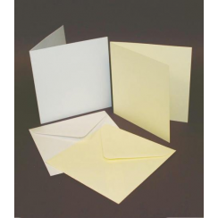 Craft UK 5x5 Cards & Envelopes - White