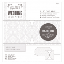 "Papermania 6 x 6"" Card Wraps (25pk) - Wedding - Damask"