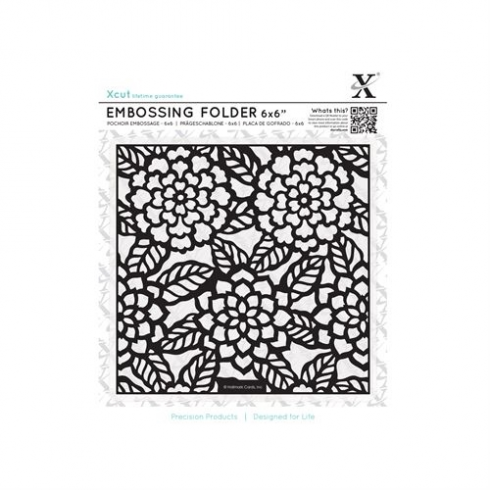 "Docrafts 6 x 6"" Embossing Folder - Chrysanthemums"