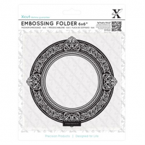 "X-cut 6 x 6"" Embossing Folder - Round Gilt Frame"