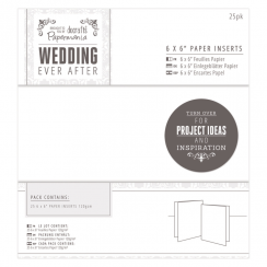"Papermania 6 x 6"" Paper Inserts (25pk) - Wedding - White"