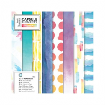 "Docrafts 6"" x 6"" Paper Pack (36pk) - Capsule - Elements Pigment"
