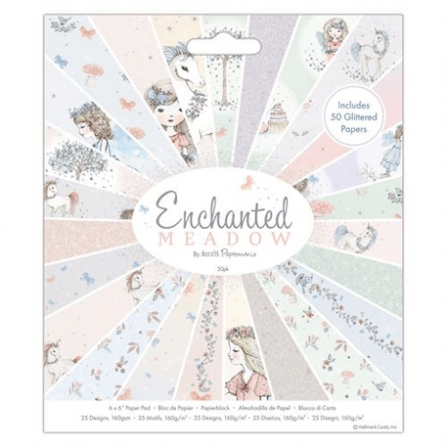 "Papermania 6 x 6"" Paper Pad (50pk) - Enchanted Meadow"