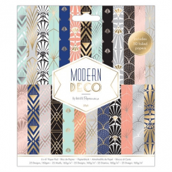 "Papermania 6 x 6"" Paper Pad (50pk) - Modern Deco"