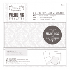 "Papermania 6 x 6"" Pocket Cards & Envelopes (25pk) - Wedding - Damask"