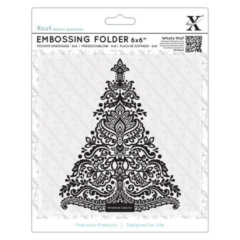 "X-cut 6x6"" Embossing Folder - Arts & Crafts Tree"