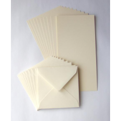 Craft UK 7x7 Cards & Envelopes - Ivory