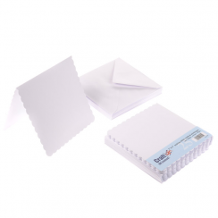 Craft UK 7x7 White Scalloped Card Packs