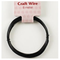 Woodware 8m Black Craft Wire