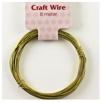 Woodware 8m Gold Craft Wire