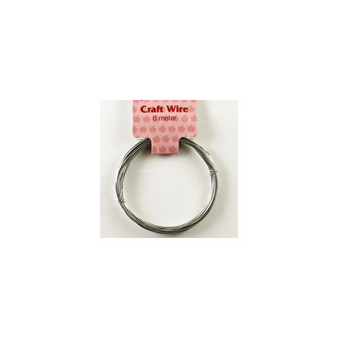 Woodware 8m Silver Craft Wire