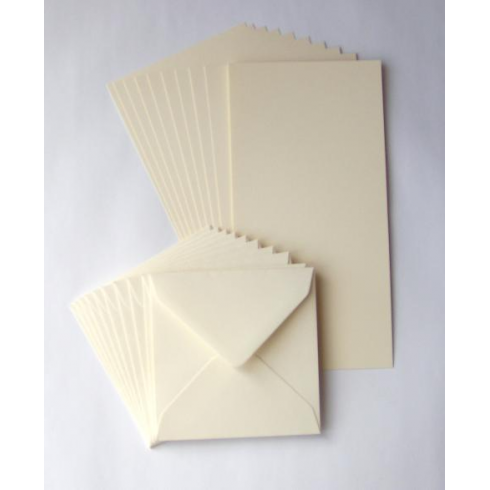 Craft UK 8x8 Cards & Envelopes - Ivory