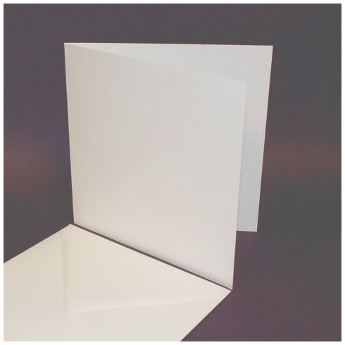 Craft UK 8x8 Cards & Envelopes - White