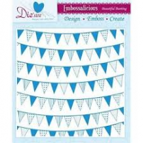 Diesire 8x8 Embossalicious Folder - Beautiful Bunting