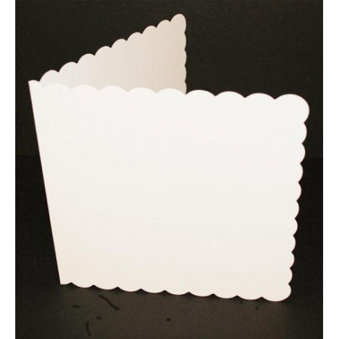 Craft UK 8x8 Scallop Cards & Env - White