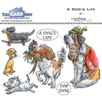 The Card Hut A DOGS LIFE - STAMP SET
