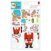 Docrafts A4 Decoupage Pack - Love Santa - Gingerbread Man