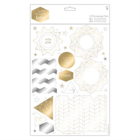 Docrafts A4 Decoupage Pack - Modern Lustre