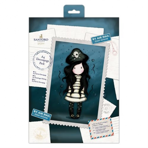 Gorjuss A4 Decoupage Pack - Santoro - Piracy