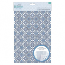 Docrafts A4 Vellum and Laser Cut Paper Pack (16pk) - Capsule - Moroccan Blue