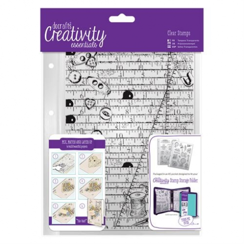 Creativity Essentials A5 Clear Background Stamp (1pc) - Haberdashery