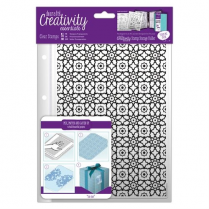 Docrafts A5 Clear Stamp Set (12pcs) - Moroccan Lattice