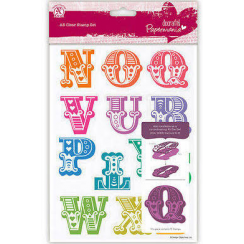 Papermania A5 Clear Stamps Set (13pcs) - Carnival Alphabet N-Z