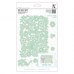 X-cut A5 Die Set (7pcs) - Folk Floral Scene