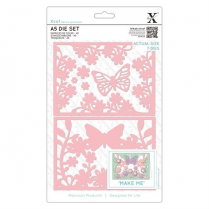X-cut A5 Die Set (7pcs) - Wild Butterfly